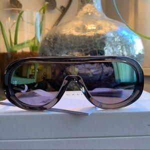 Authentic CELINE flat top shield Acetate sunglasse